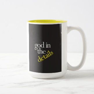 """""""God In The Details"""" Two-Tone Coffee Mug"""