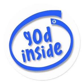 God Inside Classic Round Sticker