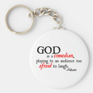 God is A Comedian Basic Round Button Keychain