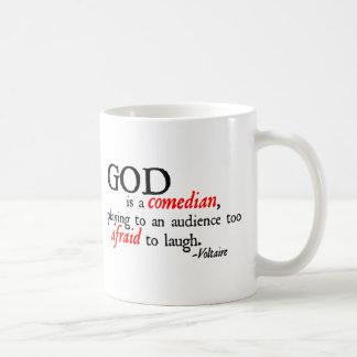 God is A Comedian Classic White Coffee Mug