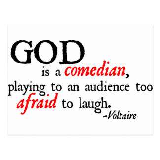 God is A Comedian Postcard