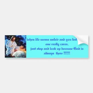 """""""God is already watching his Angels"""" Bumper Sticker"""