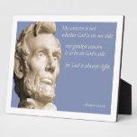 God is Always Right Display Plaque