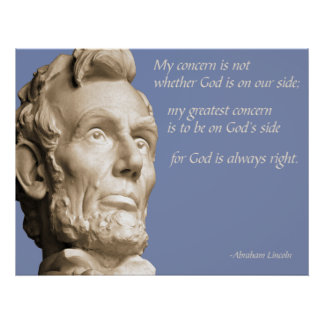 God is Always Right Print