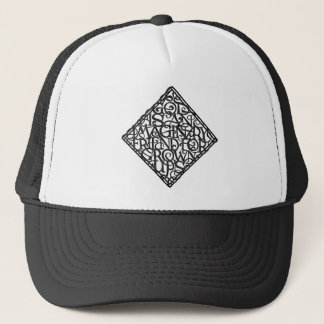 God is an imaginary friend for grown ups trucker hat