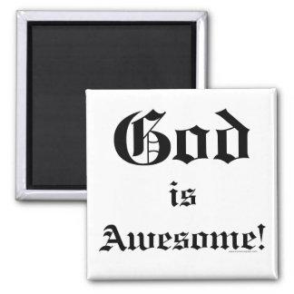 God is Awesome 2 Fridge Magnet