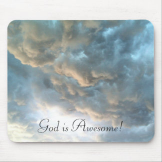 God is Awesome - Clouds Mousepad