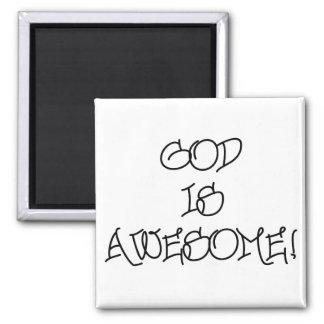 God is Awesome Fridge Magnets