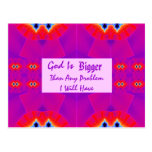 God is Bigger than any Problem I will have Postcard