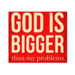 god is bigger than my problems 2 postcard