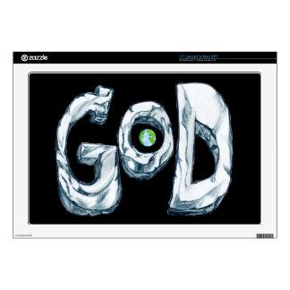 "God is Bigger Than the World Skin 17"" Laptop Skin"