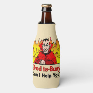 God Is Busy, Can I Help You? Bottle Cooler