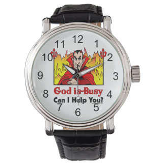 God Is Busy, Can I Help You? Wrist Watch