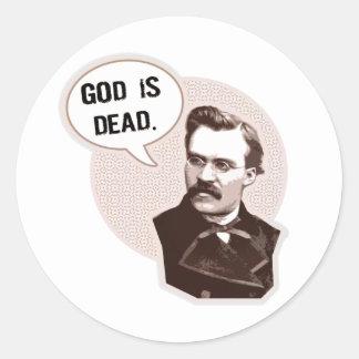 God is dead (Nietzsche) Classic Round Sticker