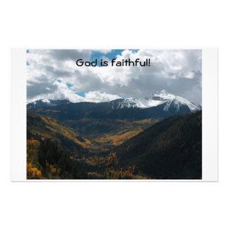 God is Faithful Personalized Stationery