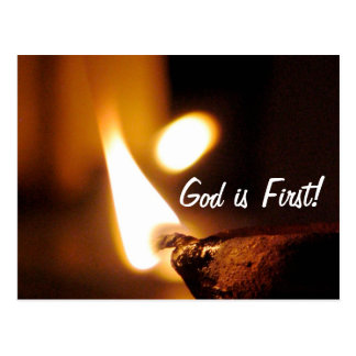 God Is First Shining Light Postcard