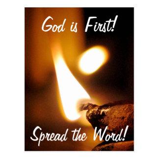 God Is First Shining Light Postcard