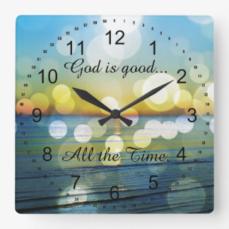 God is Good all the Time Quote Wall Clocks