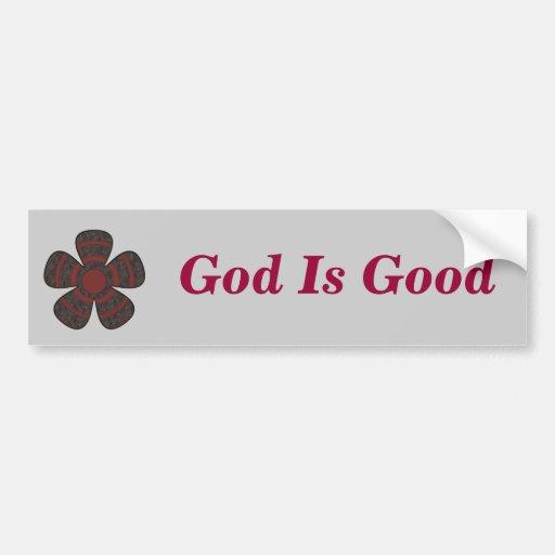 God Is Good Bumper Sticker Zazzle