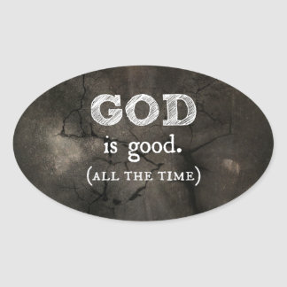 God is Good Christian Gift Oval Sticker