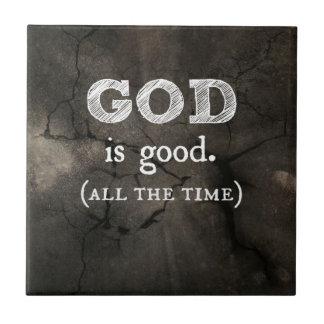 God is Good Christian Gift Tile
