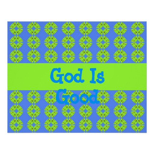 God is Good - groovy poster
