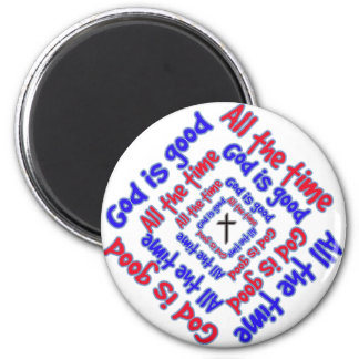 God is Good 2 Inch Round Magnet