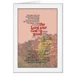 God is Good! Psalm 34:7&8 Greeting Card