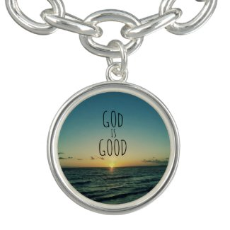 God is Good Quote Charm Bracelets