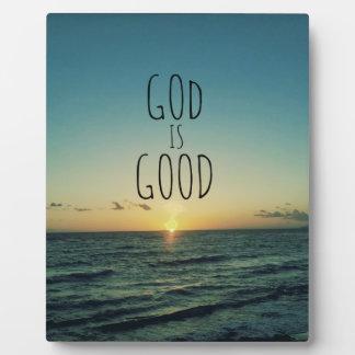 God is Good Quote Display Plaque