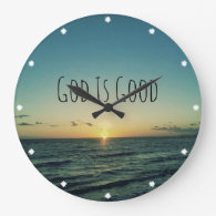 God is Good Quote Wall Clocks