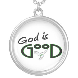 God is Good Round Pendant Necklace