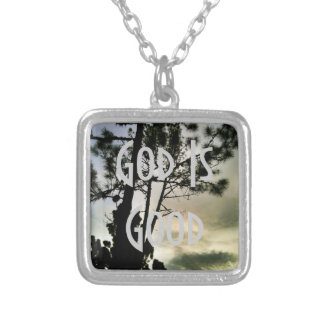 God Is Good silver necklace