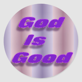 God is Good Classic Round Sticker