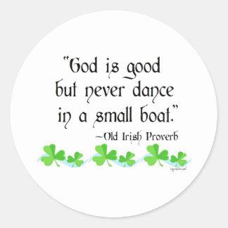 God is good classic round sticker