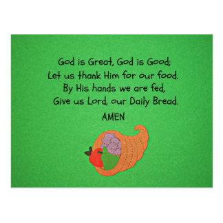 God is Great, God is Good... Postcard