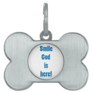 God is hee pet name tag