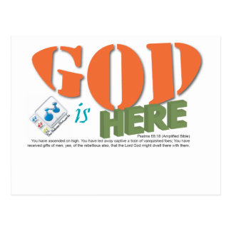 GOD is here Postcard