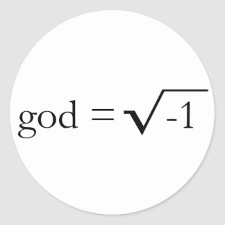 God is Imaginary Classic Round Sticker
