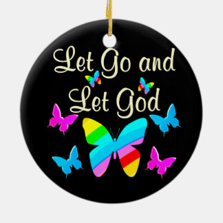 GOD IS IN CHARGE CERAMIC ORNAMENT