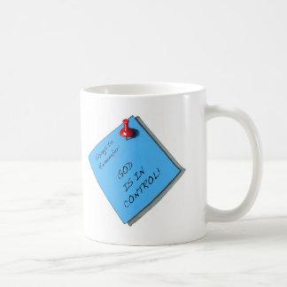 GOD IS IN CONTROL MEMO COFFEE MUG