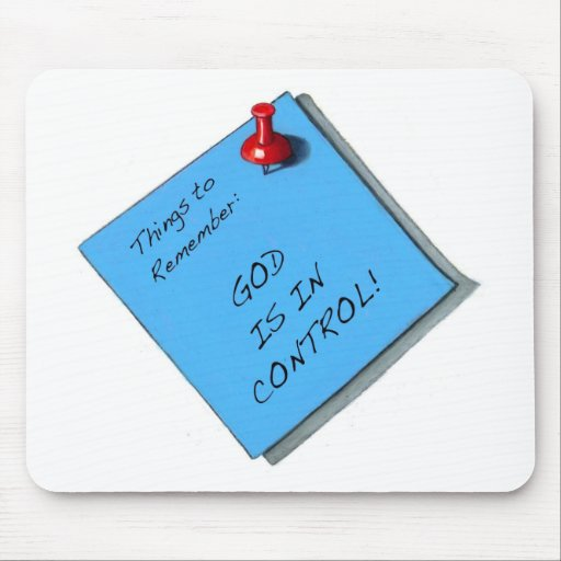 GOD IS IN CONTROL MEMO MOUSE PAD