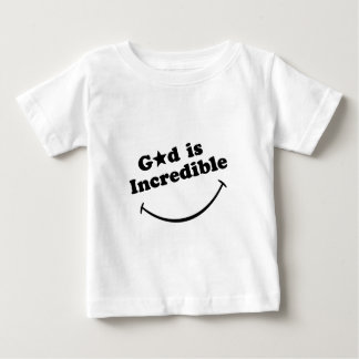 God is Incredible - Black on white. Baby T-Shirt