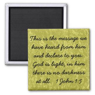 God is light bible verse 1 john 1:5 magnet