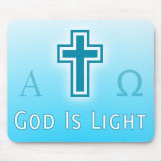 God Is Light custom catholic / christian religious Mouse Pad