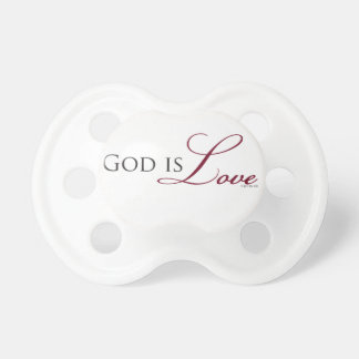 God is Love 1 John 4:8 Bible Quote Baby Pacifier
