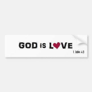 GOD IS LOVE, 1 John 4:8 Bumper Sticker