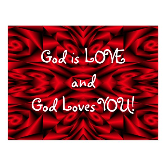 """God is LOVE and God loves YOU!"" Postcard"
