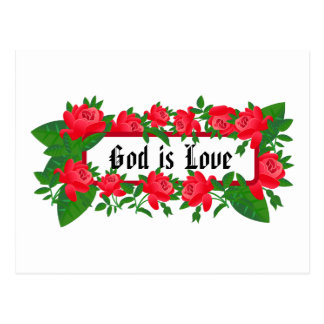 God is Love Bible Scripture Postcard