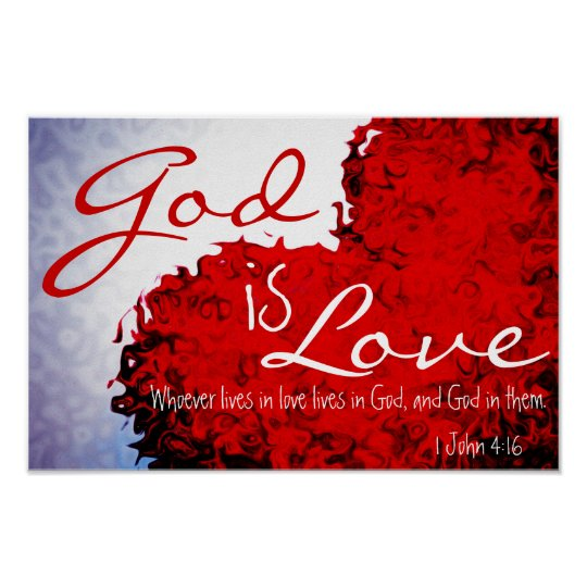 God Is Love: Let Your Light Shine Bible Verse Matthew 5:16 Poster